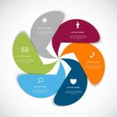 Infographie modèles pour l'entreprise — Vecteur