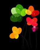 用鲜花的抽象背景。矢量插画 — 图库矢量图片