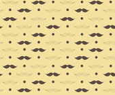 Moustache Seamless Pattern Vector Illustration — ストックベクタ