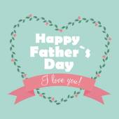 Happy Father Day Poster Card Vector Illustration — Stockvector