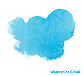 Watercolor Cloud Design — Stok Vektör