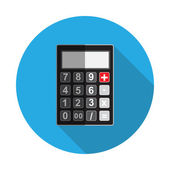 Flat Design Concept Calculator  Vector Illustration With Long Sh — Stock Vector