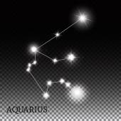Aquarius Zodiac Sign of the Beautiful Bright Stars Vector Illust — Stock Vector