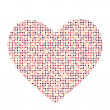Valentines Day Card with Heart Vector Illustration — Stock Vector #78365394