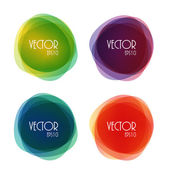 Set of Round Circle Colorful Vector Shapes — Stock Vector
