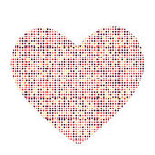 Valentines Day Card with Heart Vector Illustration — Vettoriale Stock