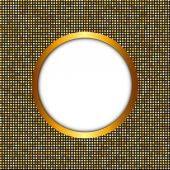 Golden Shiny Frame Vector Illustration — Stock Vector