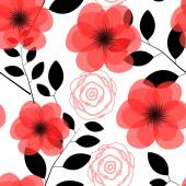 Floral Seamless Pattern Background Vector Illustration — Stock Vector