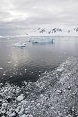 南极洲-景观和小巷冰在阴天 — 图库照片