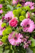Flowers - Pink And Green Bouquet — Stock Photo