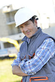 Smiling construction manager — Stock Photo