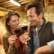 Oenologists tasting red wine — Stock Photo #53290623