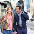 Couple doing shopping on week-end — Stock Photo #53293483