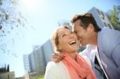 Loving couple enjoying sunny day — Stock Photo