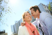 40-year-old couple in urban area — Stock Photo