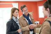 Couple visiting new home for investment — Stock Photo