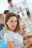 Businesswoman attending training course — Stock Photo