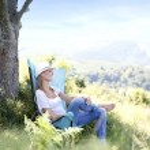 Woman enjoying peaceful time — Stock Photo #53430269