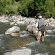 Fisherman fishing in river — Stock Photo #58084901