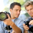 Men on photography training day — Stock Photo #58085193