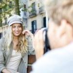 Photographer photographing fashion model — Stock Photo #58085853