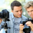Men on photography training day — Stock Photo #58086663