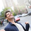 Man expressing happiness and success — Stock Photo #58087029