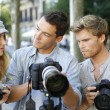 Photographers on training shooting day — Stock Photo #58087091