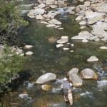 Fisherman fishing in river — Stock Photo #58087243