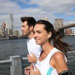 Joggers running on Brooklyn Heights Promenade — Stock Photo #58088507