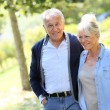 Senior couple walking together in park — Stock Photo #58089079