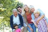 3 generation family — Stock Photo