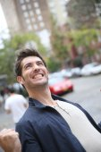 Man expressing happiness and success — Stock Photo