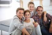 People sitting in shared apartment — Stock Photo