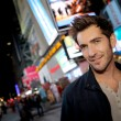Man in Time Square on Broadway street — Stock Photo #58090851