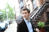Man walking in Manhattan — Stock Photo