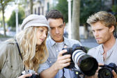 Photographers on training shooting day — Foto de Stock