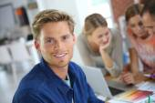Smiling college student — Stock Photo