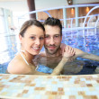 Couple enjoying thalassotherapy treatment — Fotografia Stock  #67895509