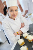 Smiling pastry confectioner — Stock Photo