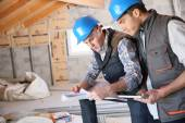 Men on building site — Stock Photo