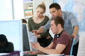 Students at digital design training course — Foto Stock