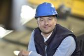 Supervisor in industrial factory — Stock Photo