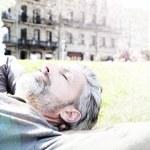 Man having nap in park — Stock Photo #70978907