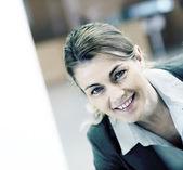 Smiling mature businesswoman — Stock Photo