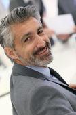 Businessman with grey hair — Stock Photo