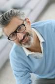 Man wearing eyeglasses — Stock Photo