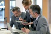 Business partners in office — Stock Photo