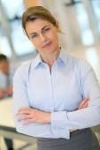 Mature blond businesswoman — Stock Photo