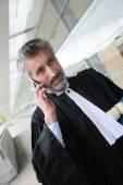Lawyer talking on phone — Stock Photo